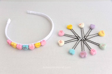 Candy Heart Hair Accessories for Valentine's Day from BabesInHairland.com #valentinesday #hearts #hair #accessories