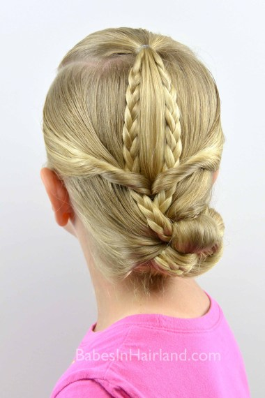 Easy Braided Updo from BabesInHairland.com #updo #braids #weddinghair #bridalhair
