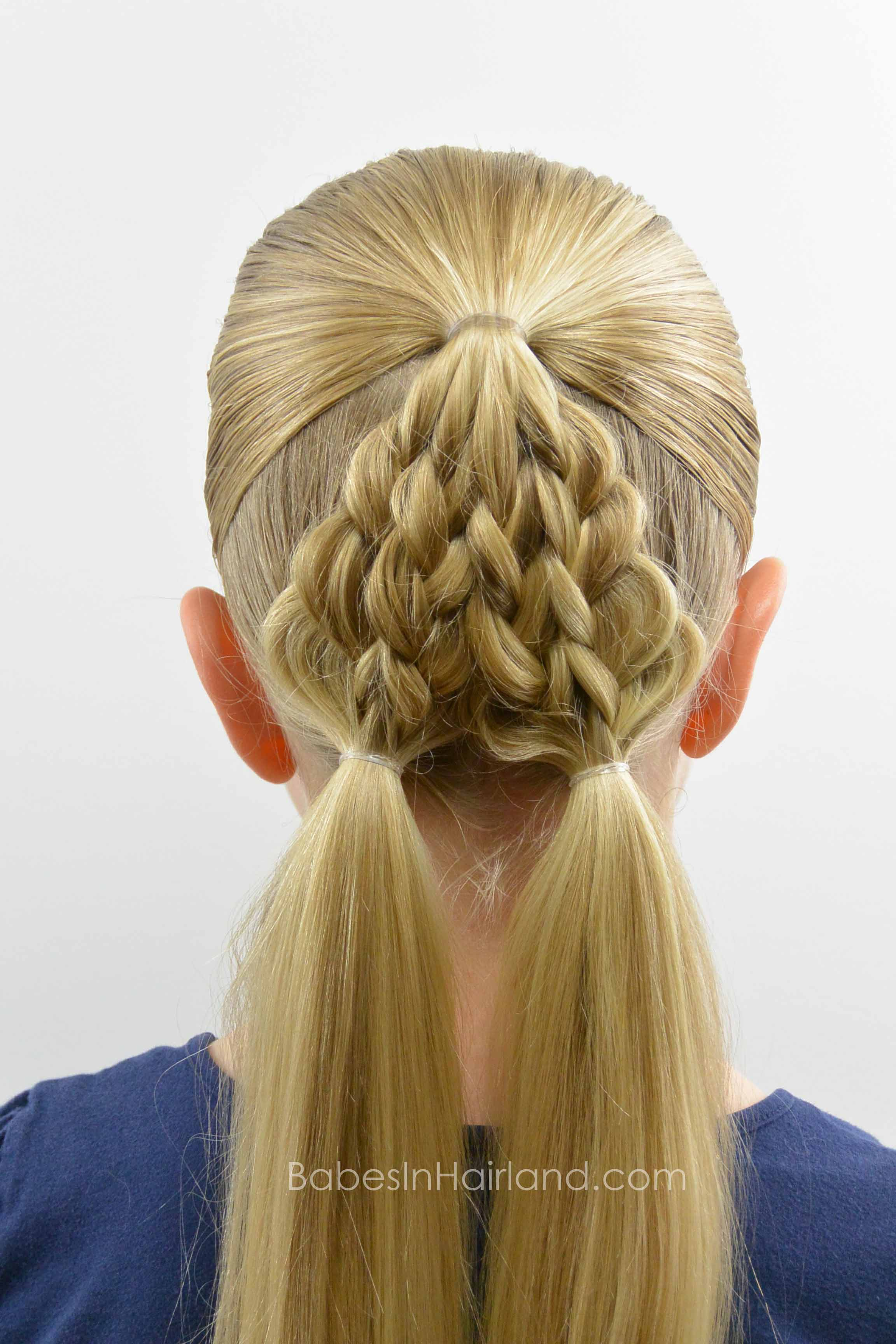 Braided Christmas Tree Hairstyle Babes In Hairland