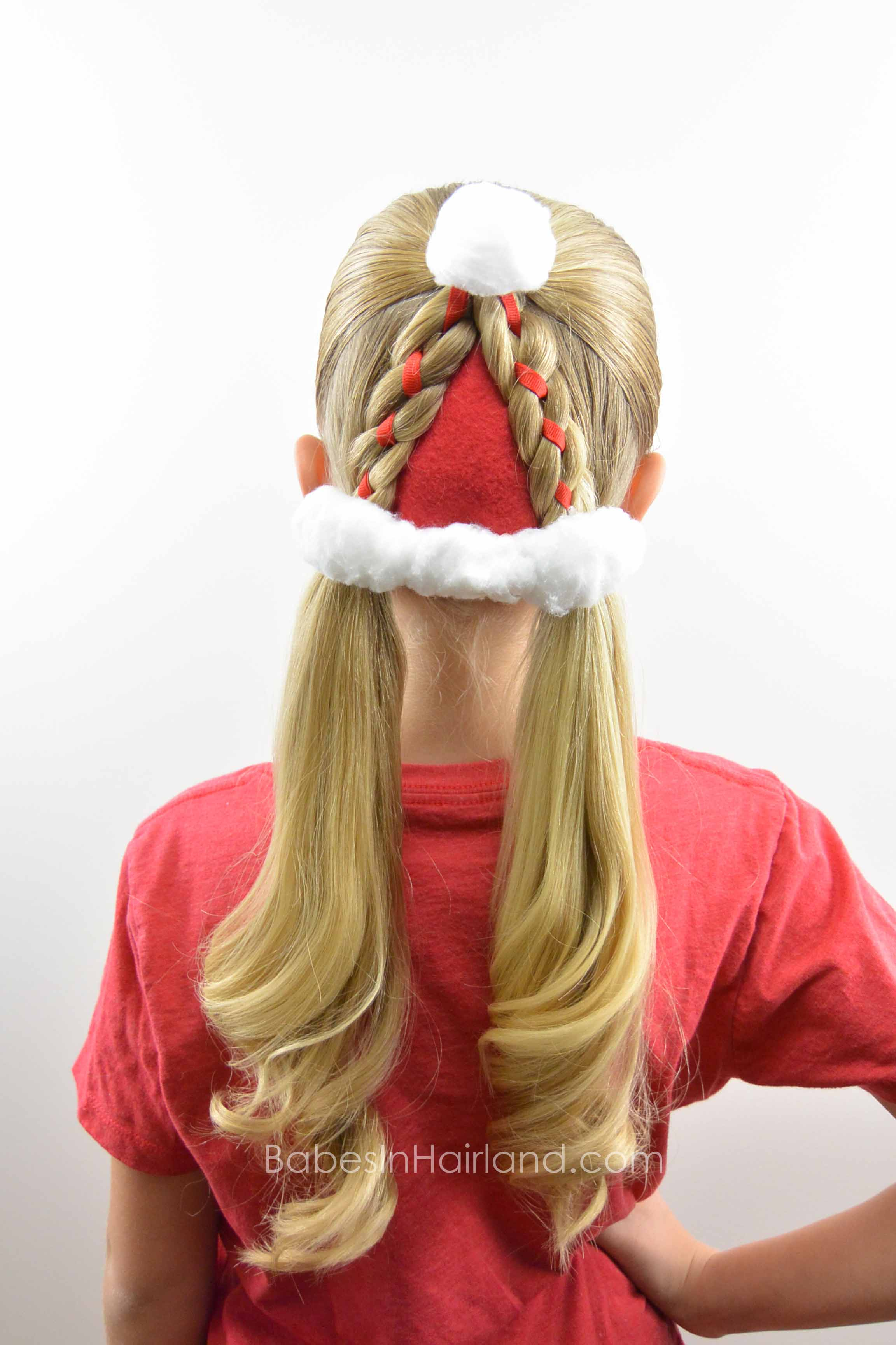 santa hat hairstyle christmas