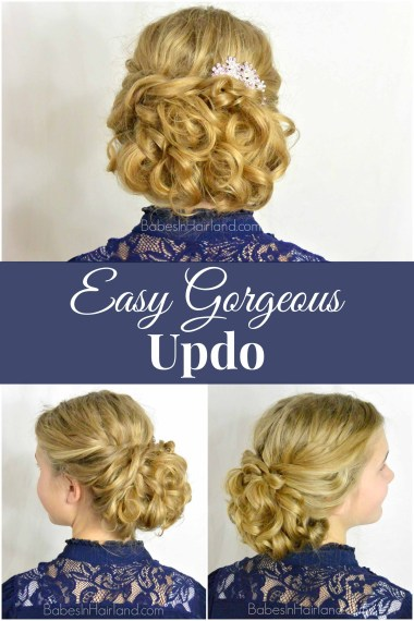 Easy Gorgeous Updo from BabesInHairland.com #updo #hairstyle #curls #braids