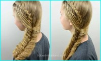 how does hair look after fishtail braid feather braided ...