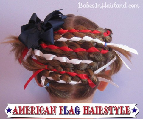 American Flag Hairstyle (1)