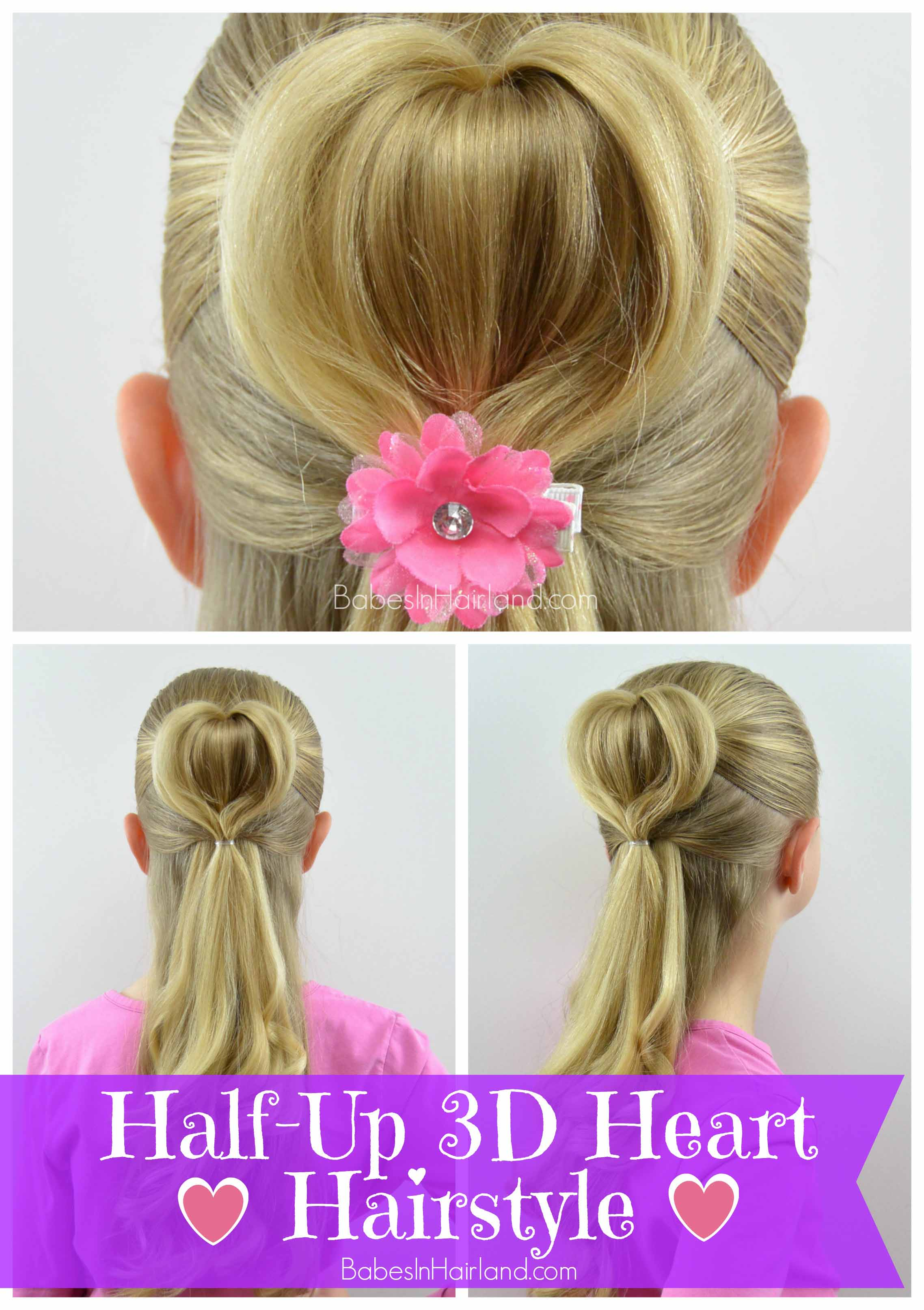 3d heart hairstyle valentine's