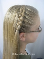 lace braid headband - babes