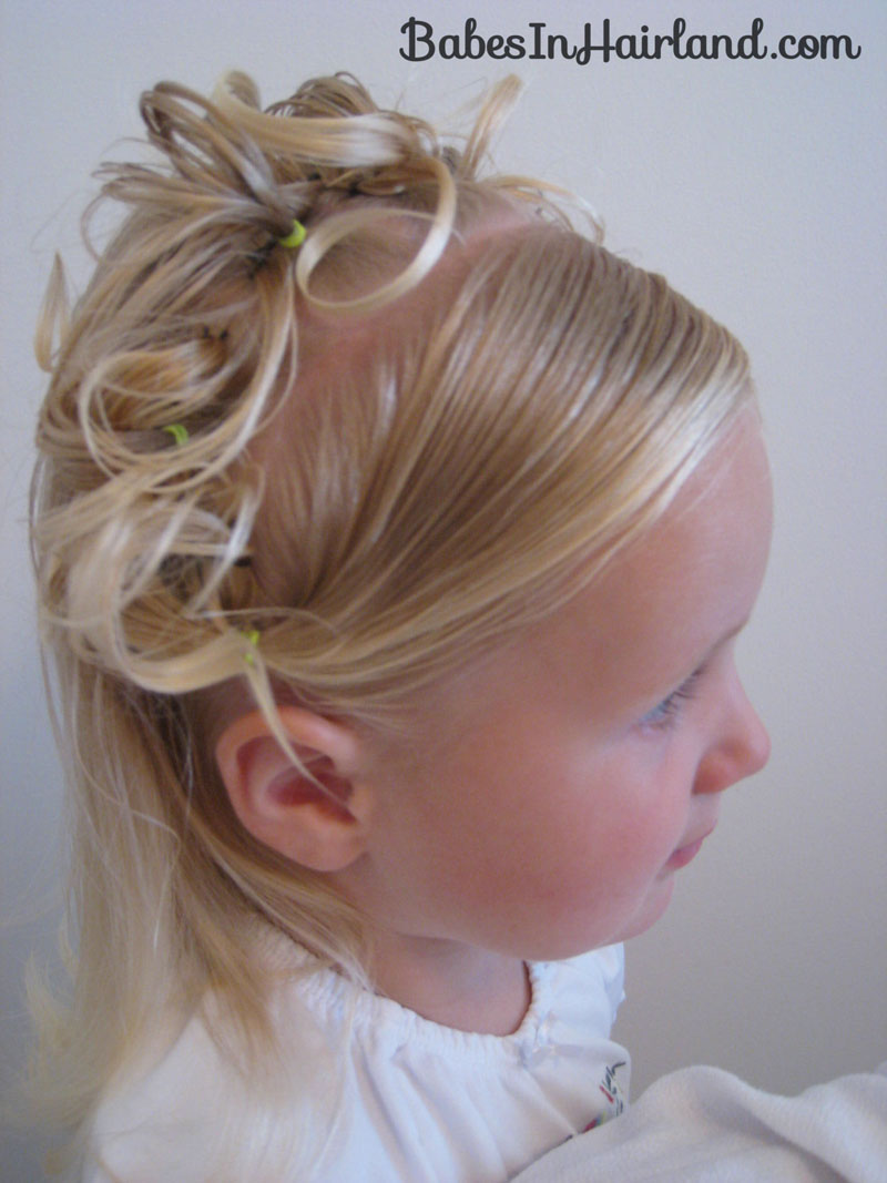 crown of curls hairstyle - babes