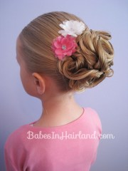 easy looped updo - babes in hairland