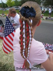 vertical american flag hairstyle