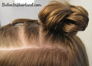 Quick Half Up Ponies & Messy Bun (6)