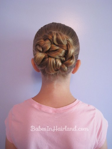 Double Braided Bun for Shorter Hair from BabesInHairland.com (5)