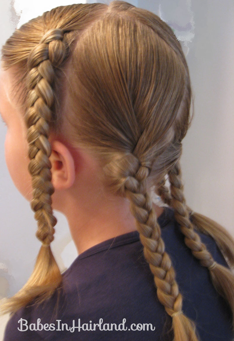 As You Braid Make Sure You Make It Long Enough That It Can Reach Across The  Head To Make The X – Otherwise This Won't Work