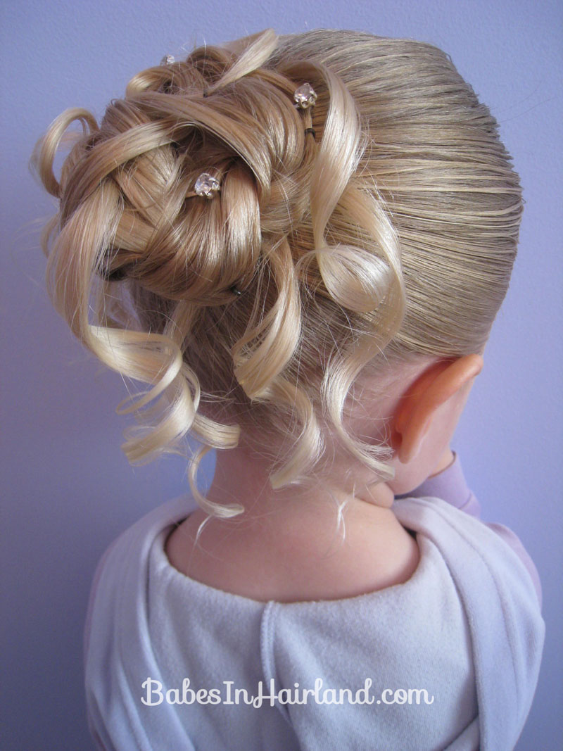Feather Braided Bun 2 Babes In Hairland