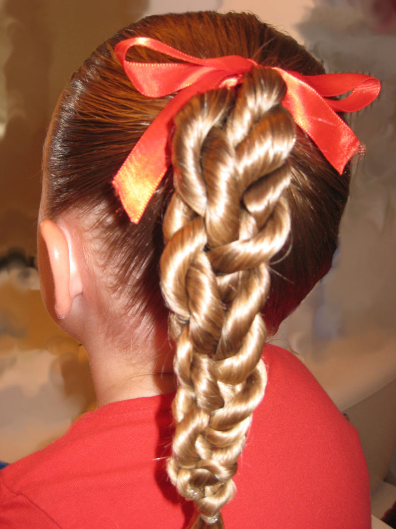 rope twist braid - braided ponytail