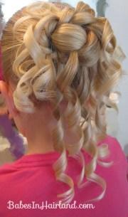 feather braided bun - babes