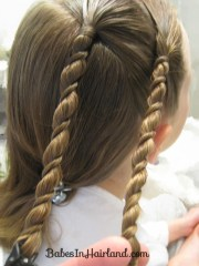 uneven rope twist braid style &