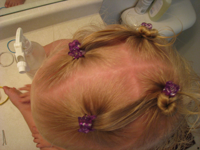 Ponies Into Baby Buns Twists Hairstyle Babes In Hairland