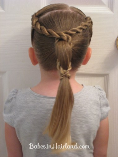 Rope Braid Wrapped Ponytail (1)