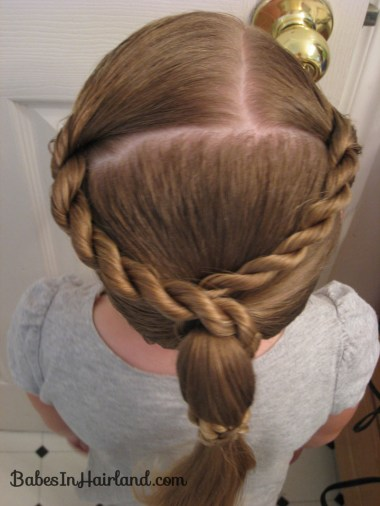 Rope Braid Wrapped Ponytail (2)