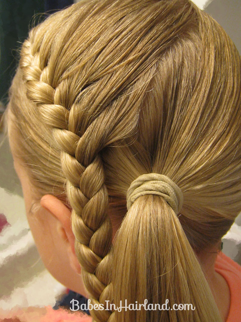 hair styles back braid wrapped around ponytail conrad inspired half 7114