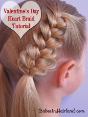 heart braids valentine day