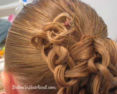 Knotted Pony Updo w/Hair Coils (6)