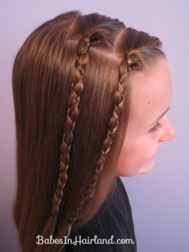 Quick & Easy Uneven Braids Hairstyle (3)