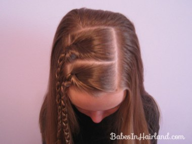 Quick & Easy Uneven Braids Hairstyle (2)