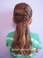 side braid and topsy tail twist