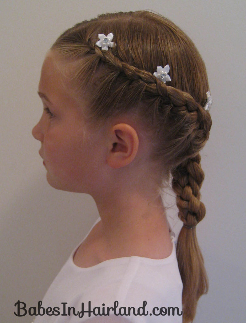 french braids with twist