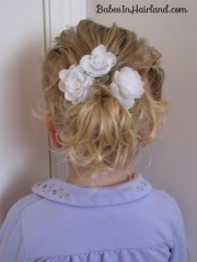 baby hair easter updo - babes