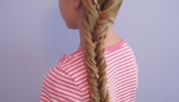 Resultado de imagen para Fishbone nut is easy to make hair for school
