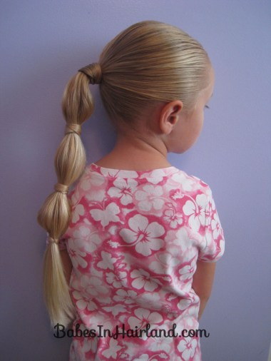 Hair Wrapped Bubble Ponytail (8)