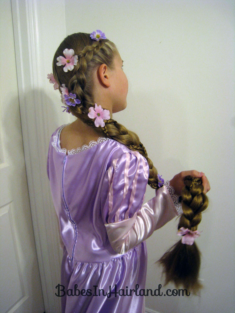 Rapunzel Hair Tutorial Using Extensions Babes In Hairland