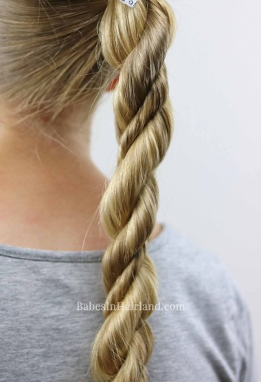 Combine several types of twists and create this cute Twisted Combo Hairstyle from BabesInHairland.com #twists #ropetwist #3strandtwist #hair #hairstyle
