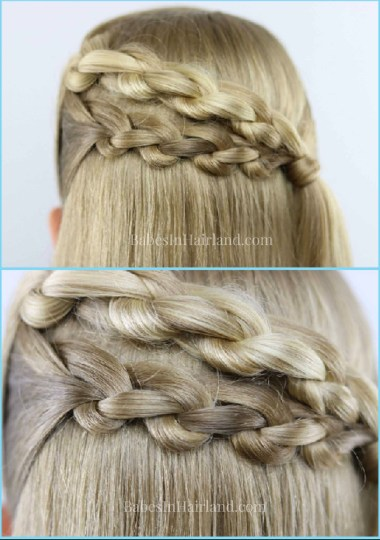 Create beautiful braids with this new 3 strand knot braid technique from BabesInHairland.com #braid #knots #hair #hairstyle #tutorial #beauty