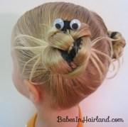 halloween spider hairdo - babes
