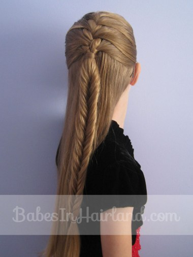 French Braid into a Fishbone Braid from BabesInHairland.com (8)