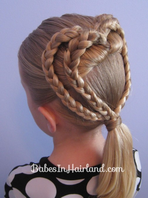2 Braided Hearts | Valentine's Day Hairstyle | BabesInHairland.com