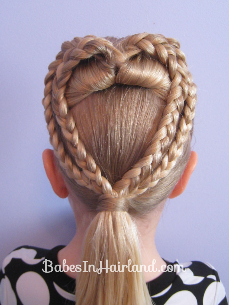 2 Braided Hearts Valentine S Day Hairstyle Babes In Hairland