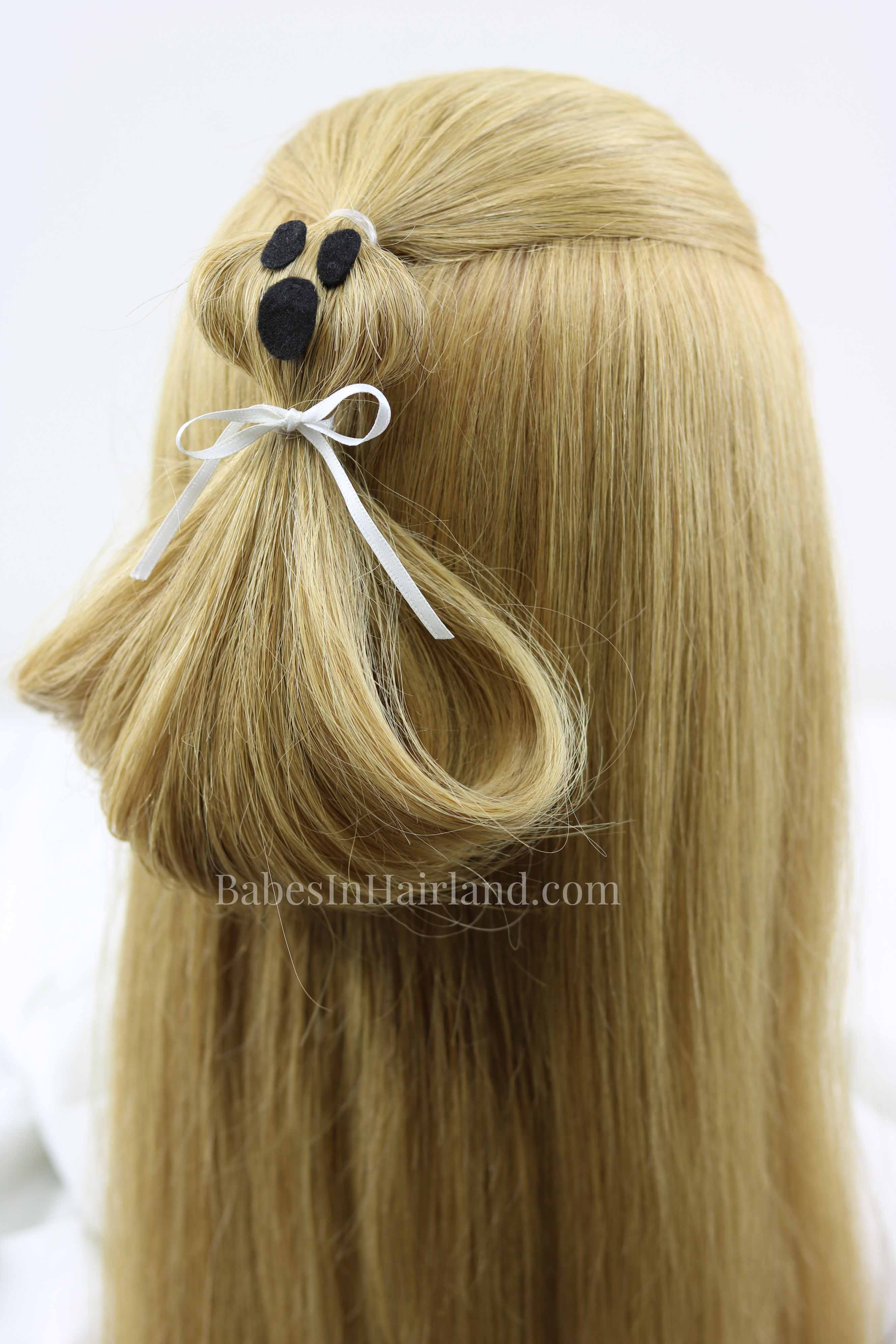 Ghost Ponytail Halloween Hairstyle Make Your Hair