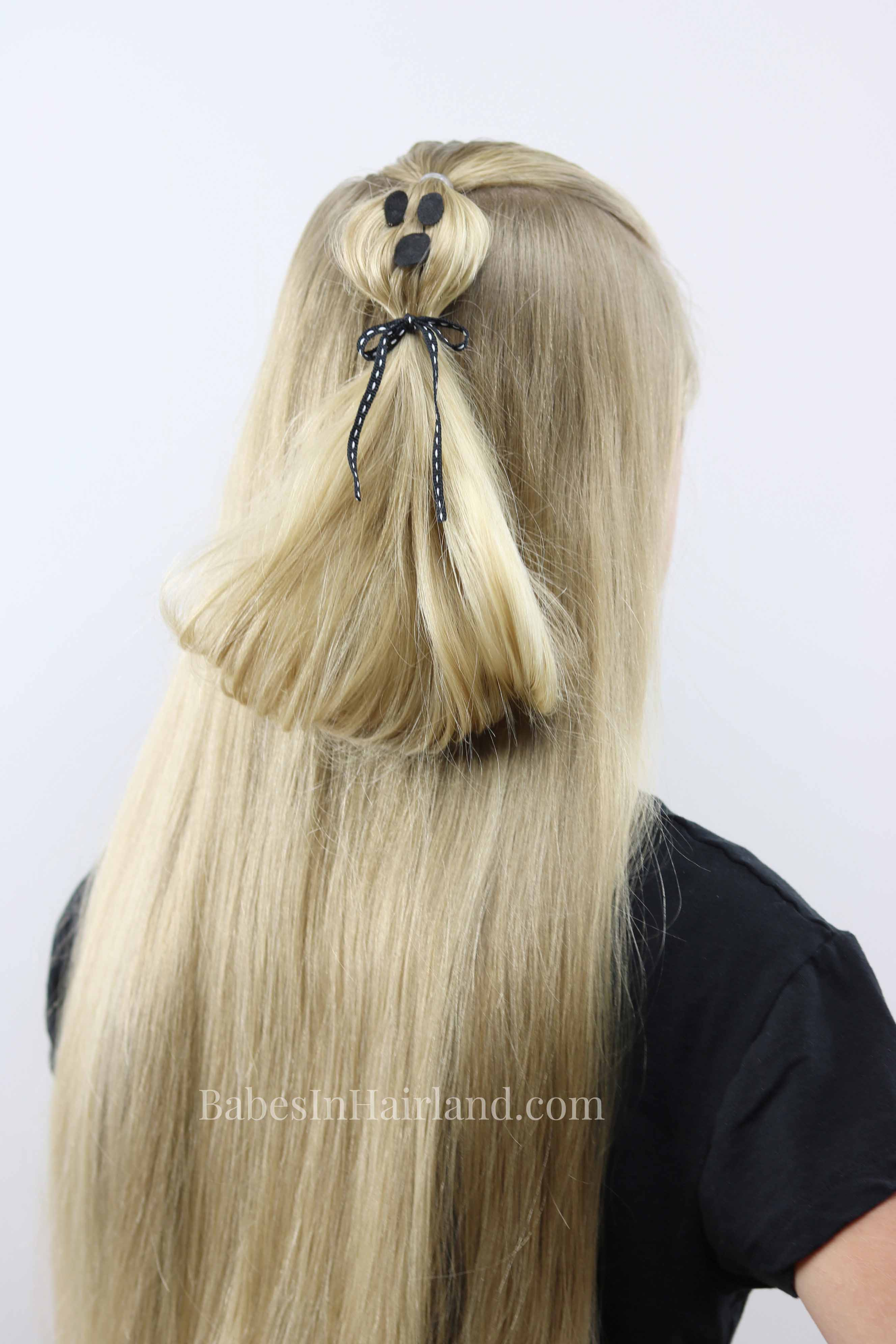 Ghost Ponytail | Halloween Hairstyle | Make your hair spooky too!