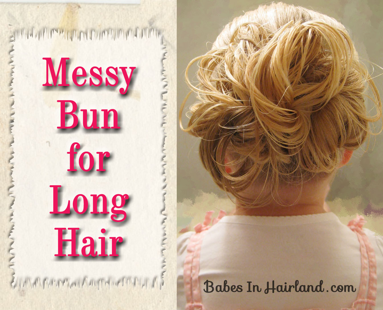 Swell Messy Bun For Long Hair Video Babes In Hairland Hairstyles For Men Maxibearus