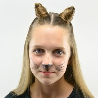 Cat Ears Using Your Own Hair #2 | Halloween Hairstyle