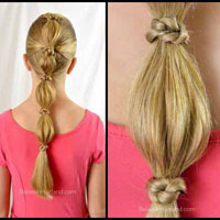 """Knotty"" Bubble Ponytail"
