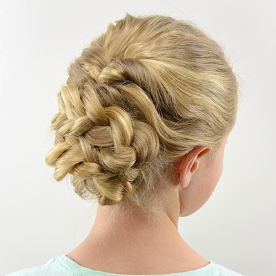 Easy Romantic Braided Updo
