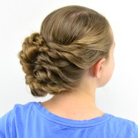 Flipped Braid Updo