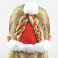 Santa Hat Hairstyle | Christmas Hairstyle