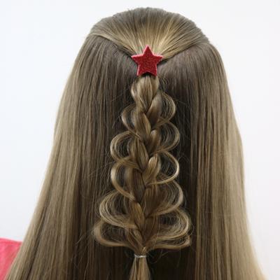 Christmas Tree Loop Braid Babes In Hairland