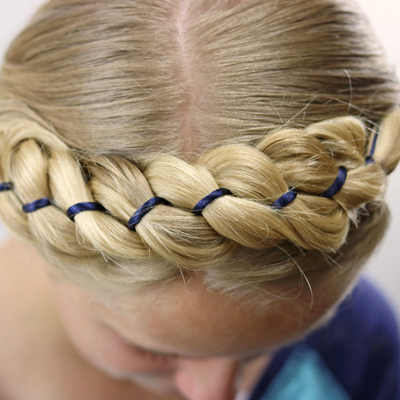 4 Strand Ribbon Braid Crown