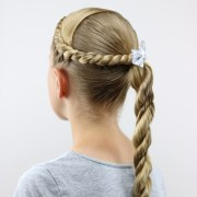 twisted combo hairstyle cute